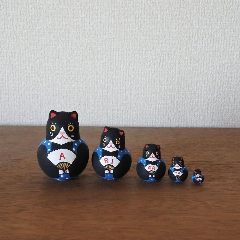 MATRYOSHKA 5sets ありがとう福猫 Arigatou Cat