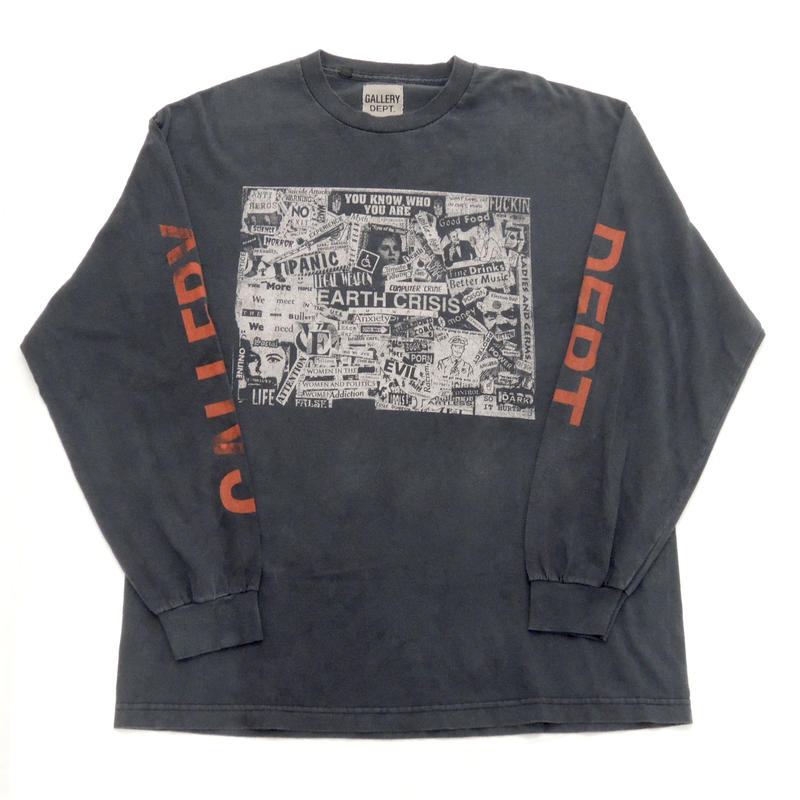 """GALLERY DEPT.  """" Good Luck """" Collector L/S Black"""