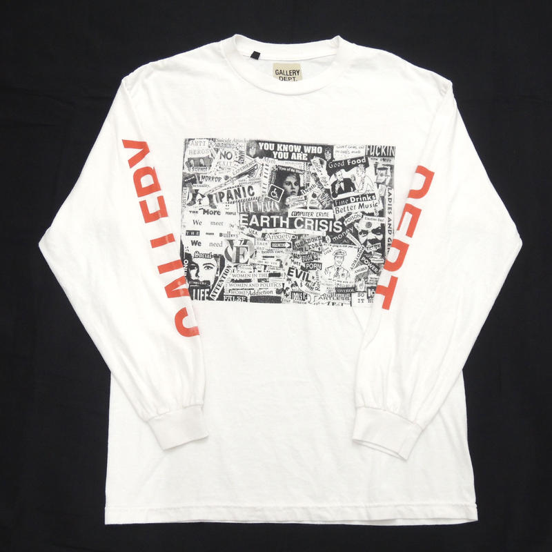 """GALLERY DEPT.  """" Good Luck """" Collector L/S White"""