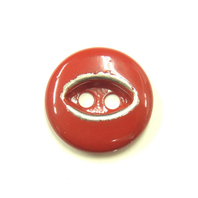 ビンテージソーオンボタン50(10個セット)はがしレッド