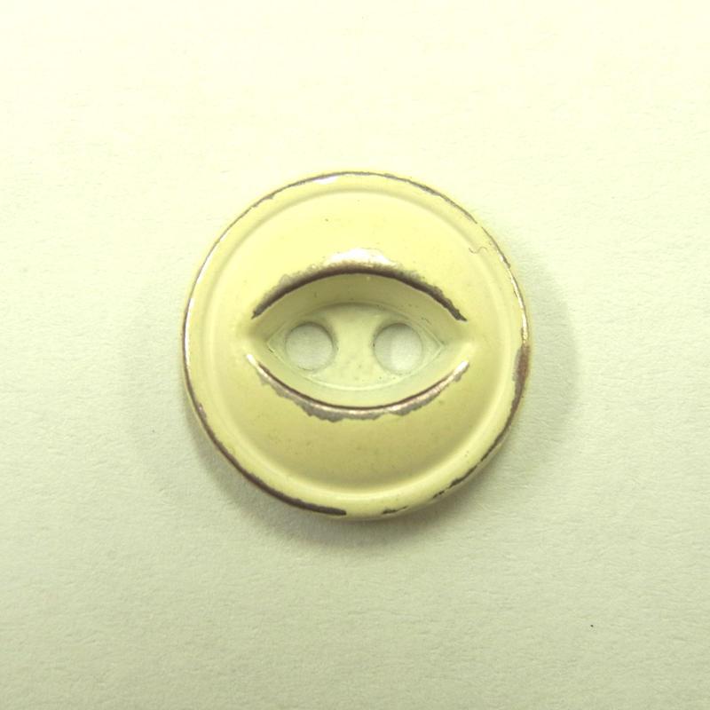 ビンテージソーオンボタン371(10個セット)はがしアイボリー キャスト