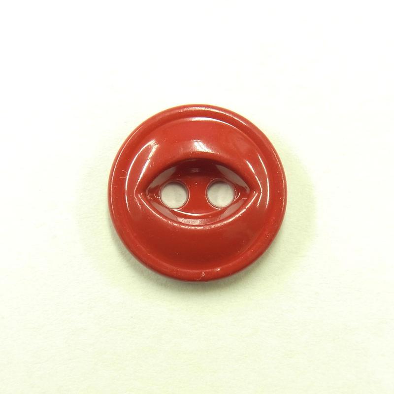 ビンテージソーオンボタン371(10個セット)つやレッド キャスト