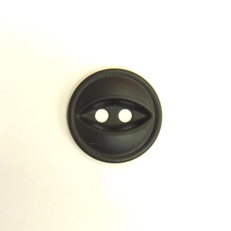 ビンテージソーオンボタン66(10個セット)マットブラック