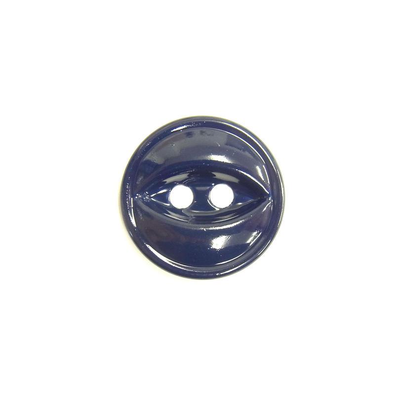 ビンテージソーオンボタン66(10個セット)つやネイビー