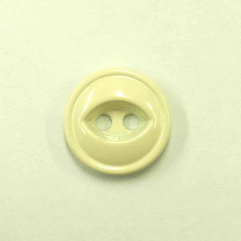 ビンテージソーオンボタン371(10個セット)つやアイボリー キャスト