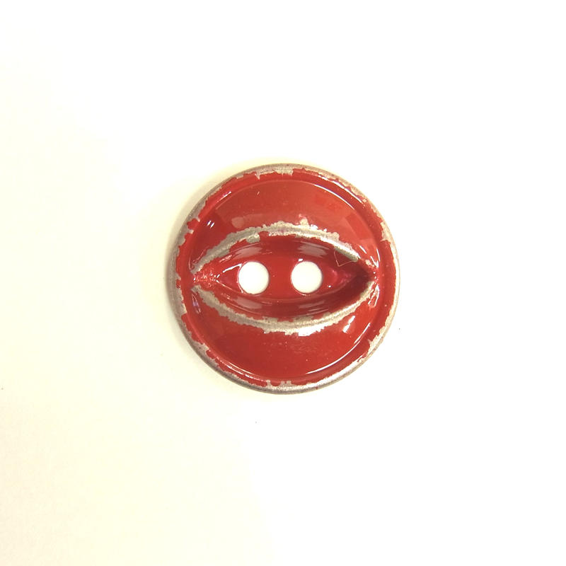 ビンテージソーオンボタン66(10個セット)はがしレッド