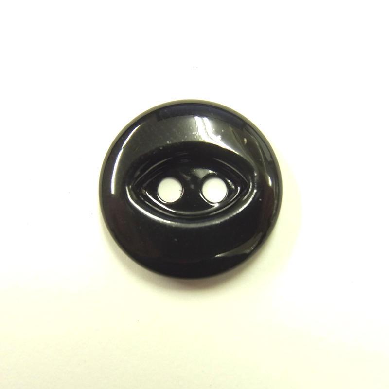 ビンテージソーオンボタン50(10個セット)つやブラック