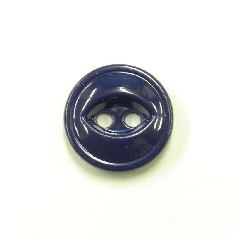 ビンテージソーオンボタン371(10個セット)つやネイビー キャスト