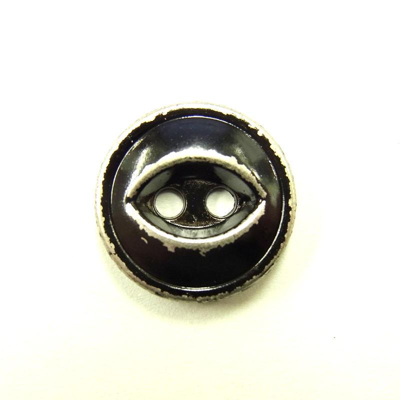 ビンテージソーオンボタン371(10個セット)はがしブラック キャスト