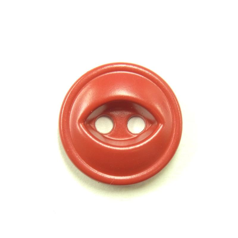 ビンテージソーオンボタン371(10個セット)マットレッド キャスト