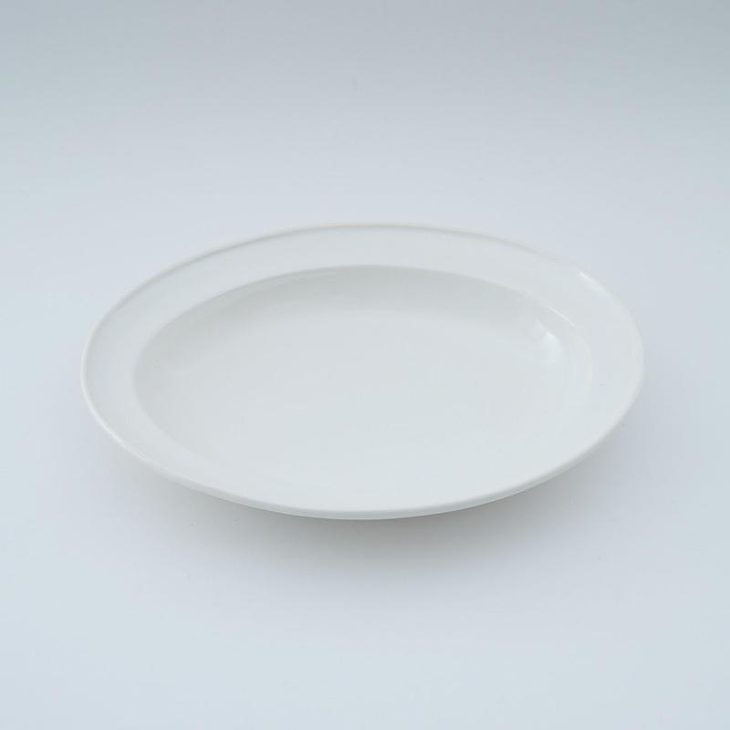 山本拓也・白オーバル皿(M)