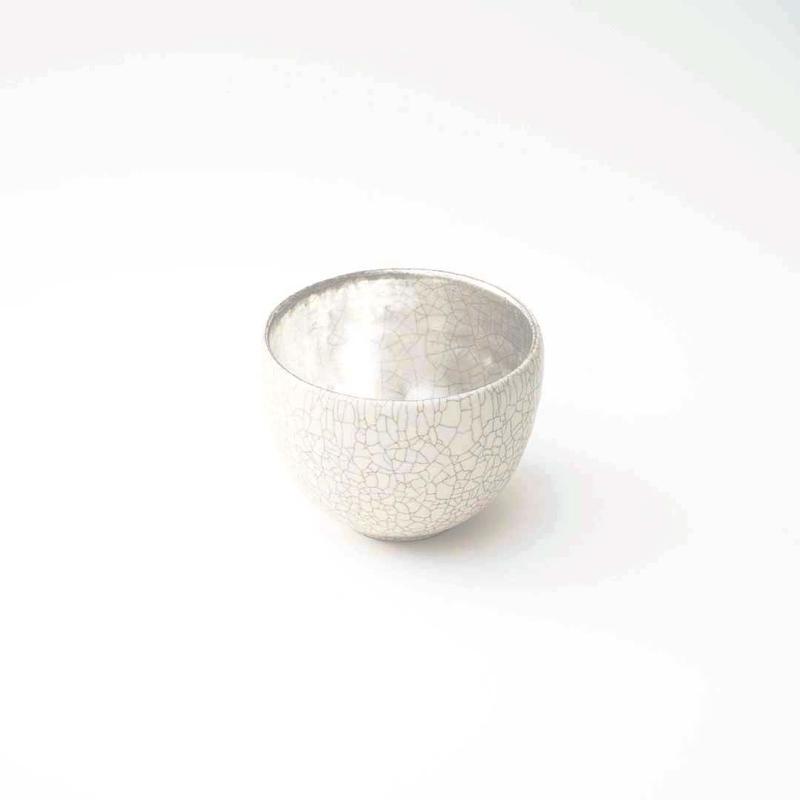 谷井直人・銀彩白小鉢