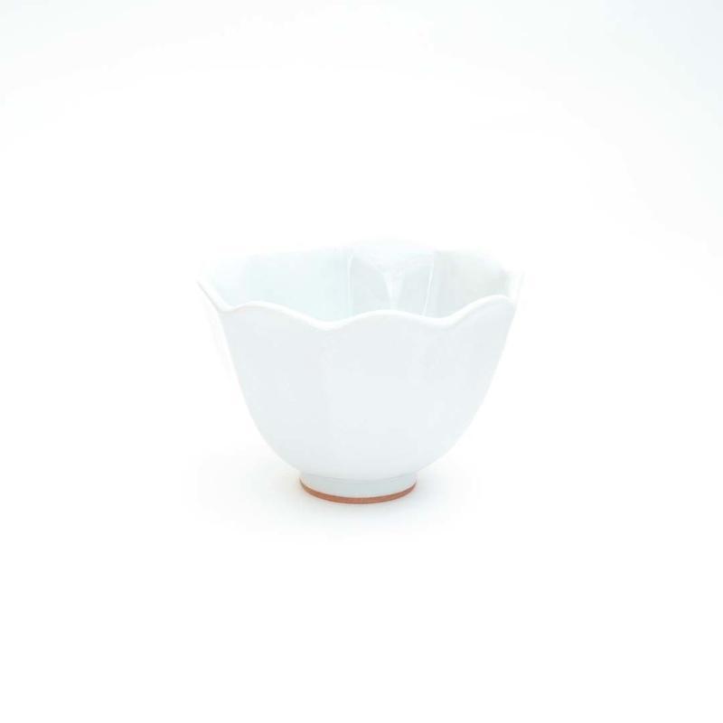 林健二・白釉輪花小鉢