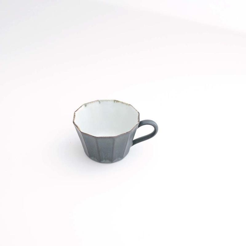 村上雄一・フリルマグカップ(黒)