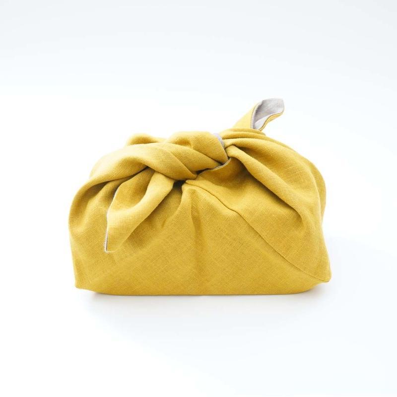 つちや織物所・黄色のお弁当包み