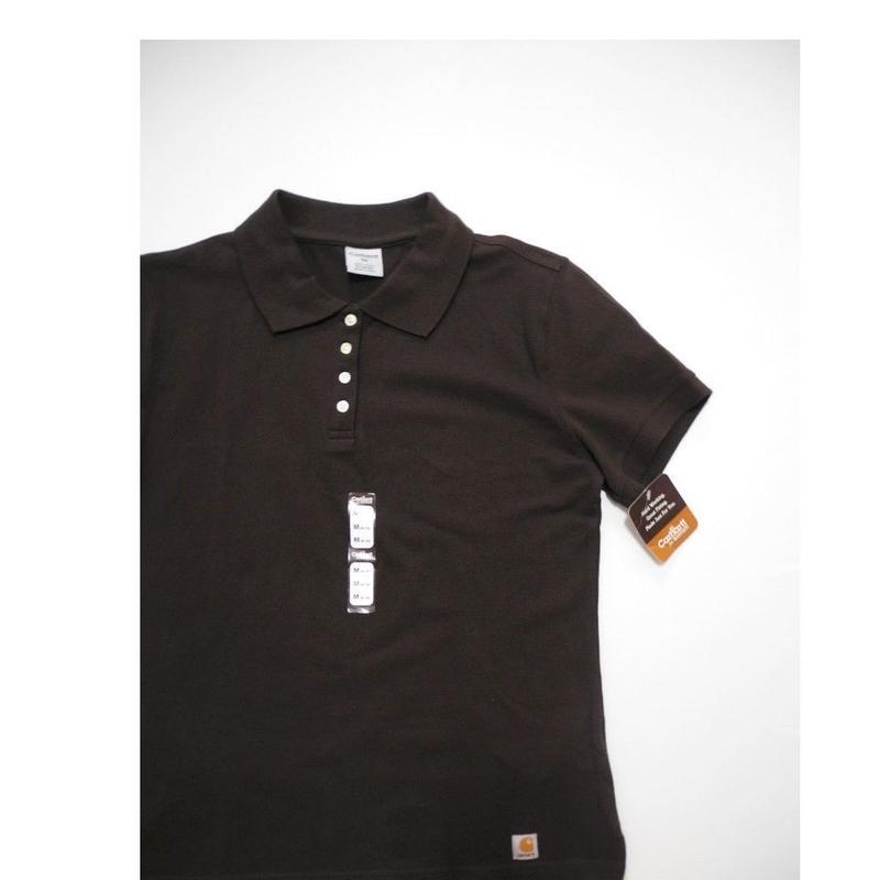 NEW carhartt  Polo-shirt  For Women  M  Brown