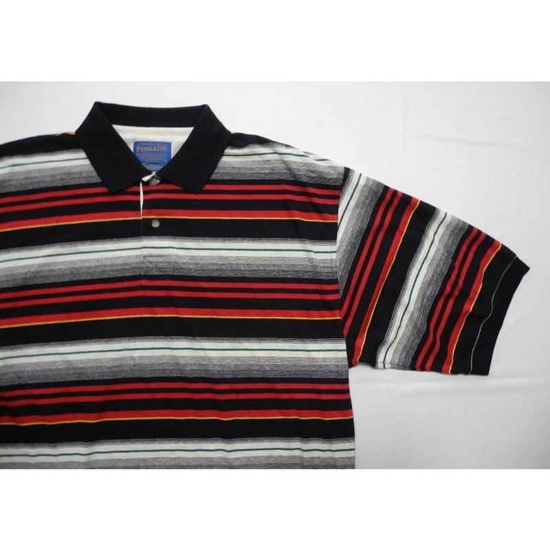 PENDLETON striped POLO shirt L