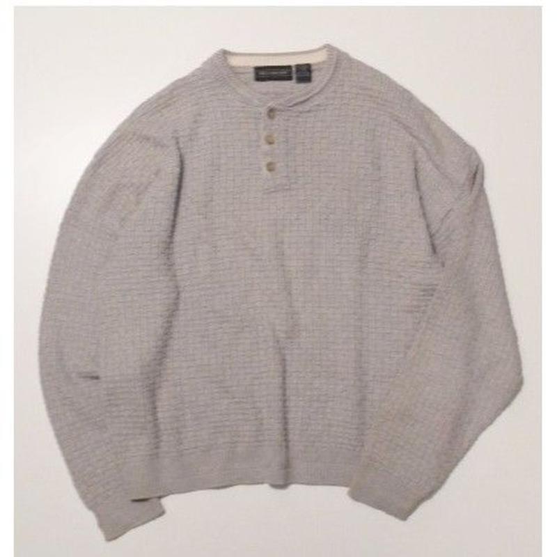 Henley Neck Knit L
