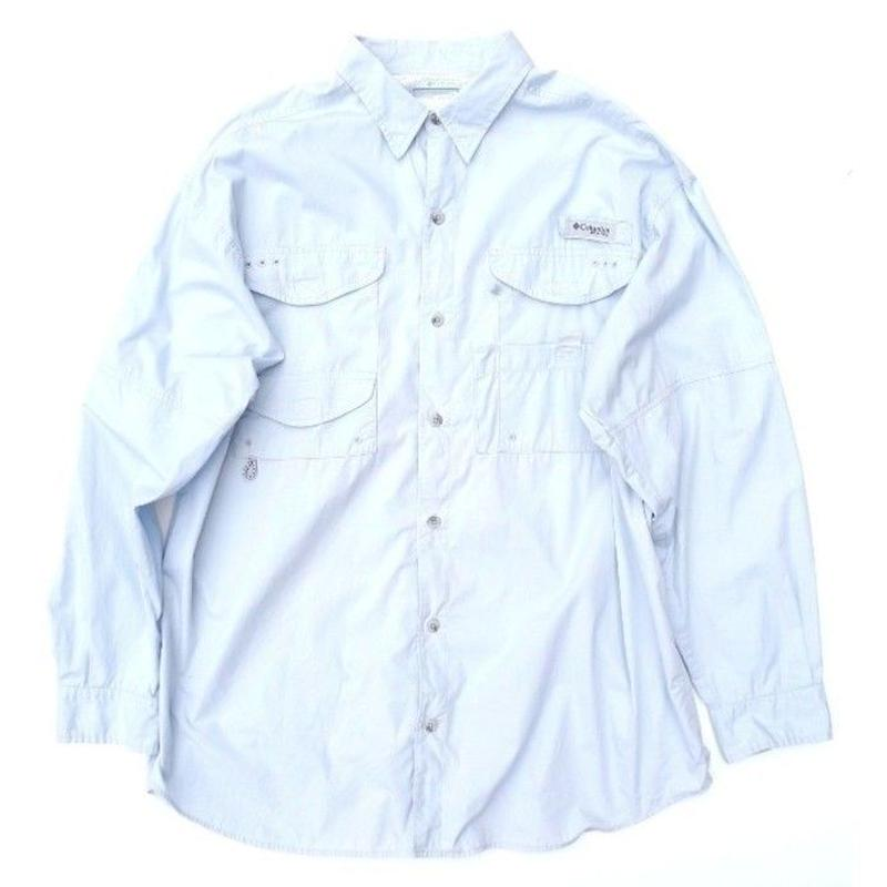 Columbia PFG Fishing shirt SIZE-L COTTON100%