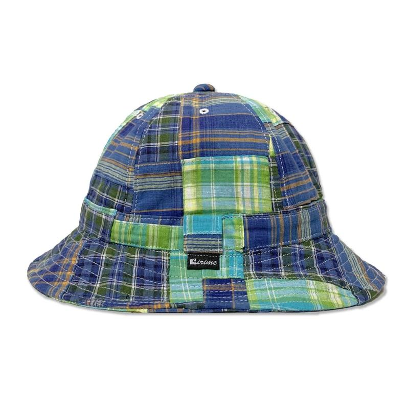 Skate Bell Hat    <Blue Plaid Patchwork>
