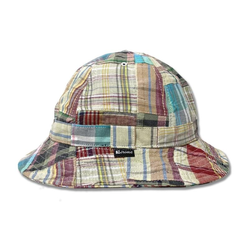 Skate Bell Hat    <Off White Plaid Patchwork>