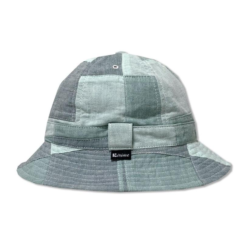 Skate Bell Hat    <Mint Plaid Patchwork>