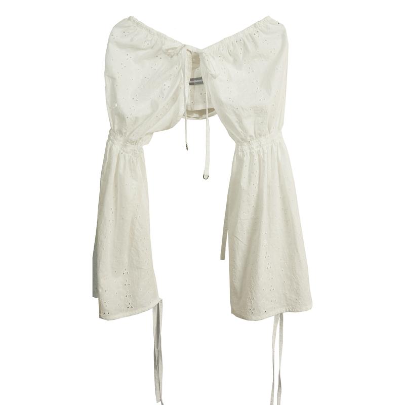 shirring sleeve(white)