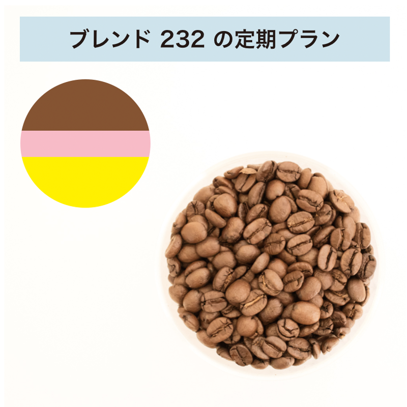 フィットするコーヒーNo.232の定期プラン