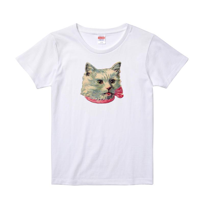 【Ribbon Cat3/リボンキャット3】5.6オンス Tシャツ/WH/LT-006