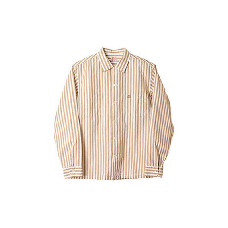 SD Stripe Open Collar Shirt