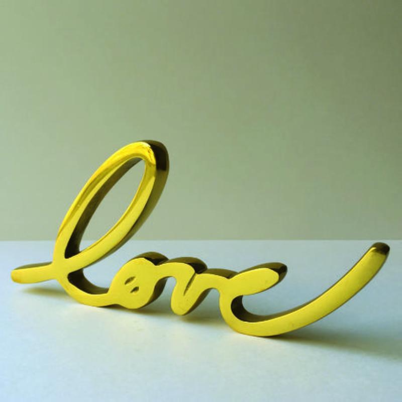 LOVE オブジェ 真鍮製
