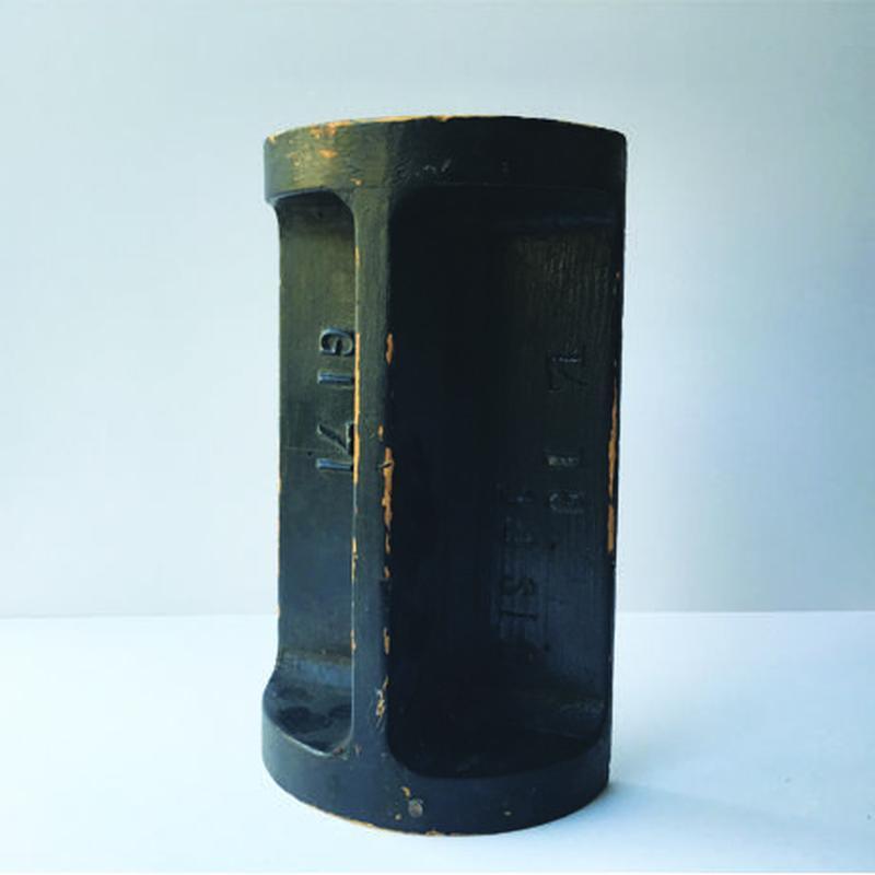インダストリアル 木型 ハーフシリンダー