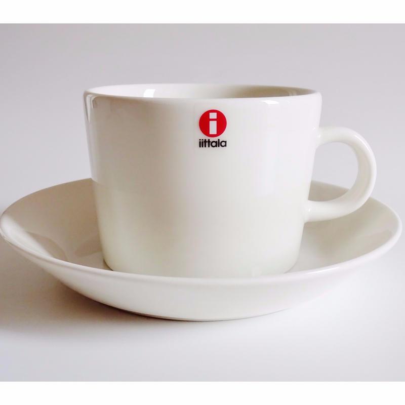 iittala (イッタラ) ティーマ ティー・コーヒーカップ&ソーサー ホワイト