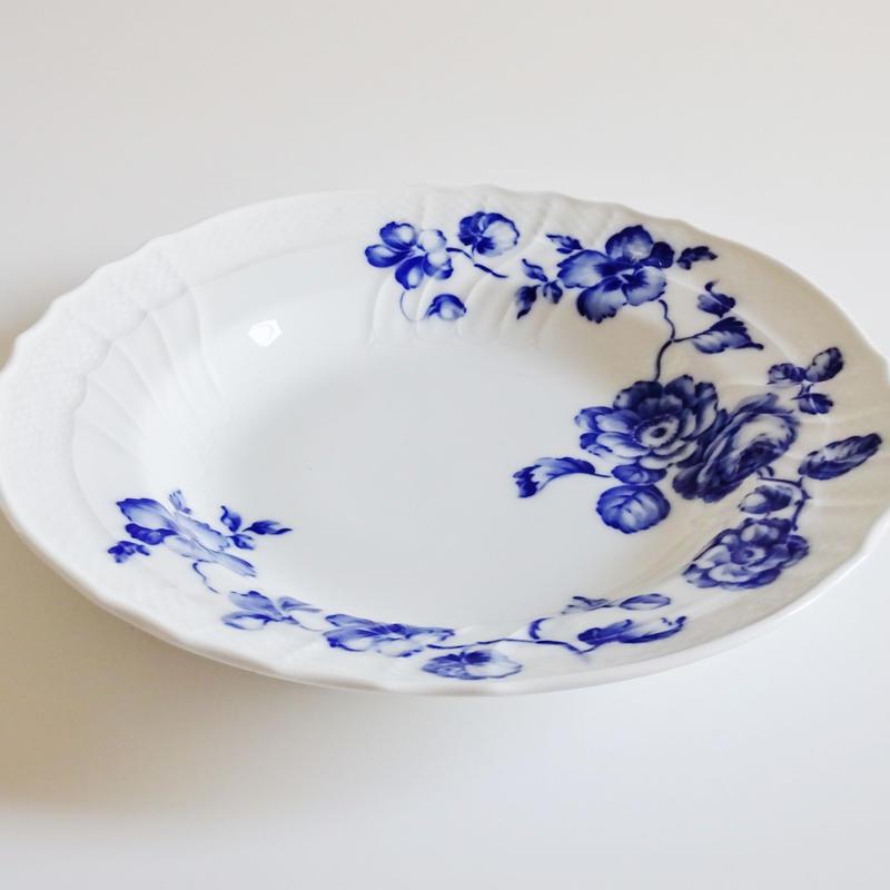リチャードジノリ ローズブルー スーププレート24cm