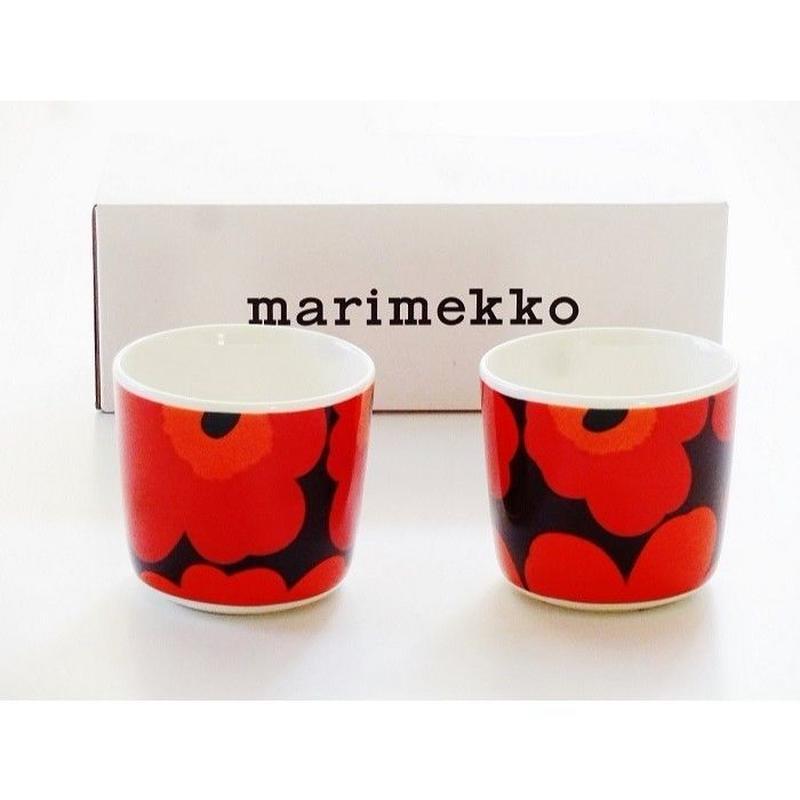 マリメッコmarimekko ラテマグ 2個セット(プラム レッド)