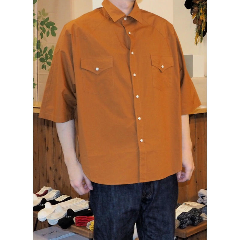 H.UNIT / Typewriter western dolman short sleeves shirt