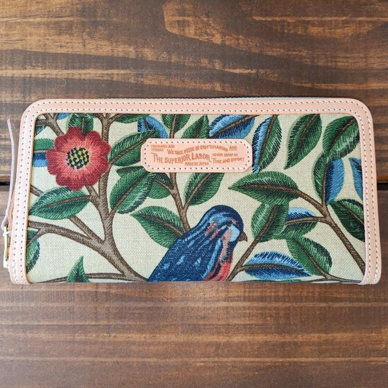 THE SUPERIOR LABOR / William Morris long zip wallet