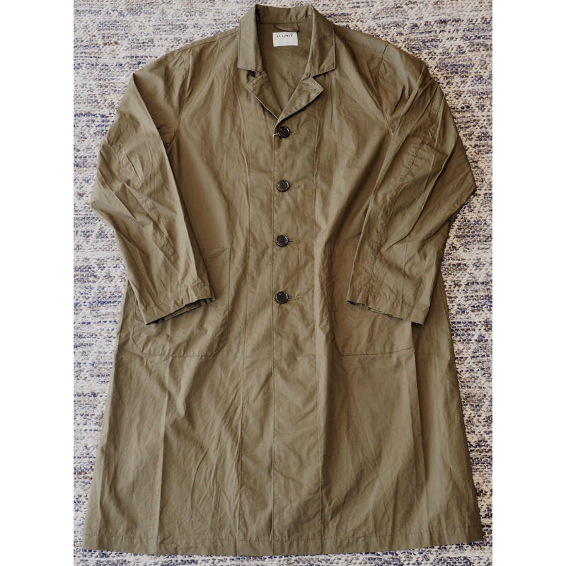 H.UNIT / Broadcloth long atelier coat (KHAKI)