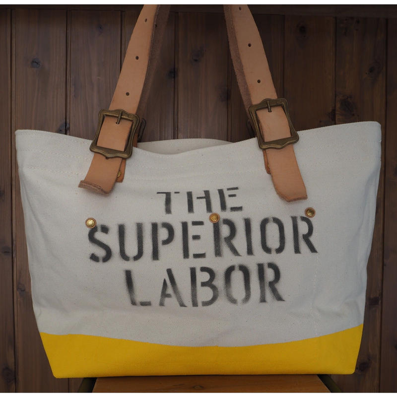 THE SUPERIOR LABOR / engineer tote bag S (Natural/Yellow)