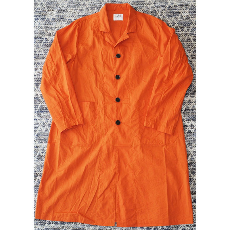 H.UNIT / Broadcloth long atelier coat (ORANGE)