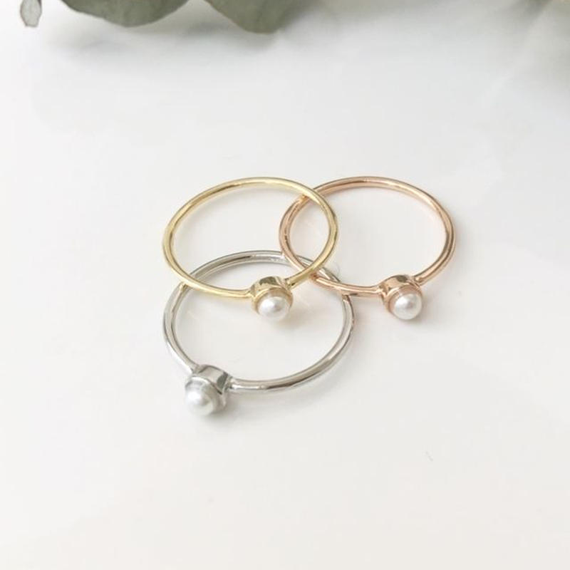 ring simple<pearl>