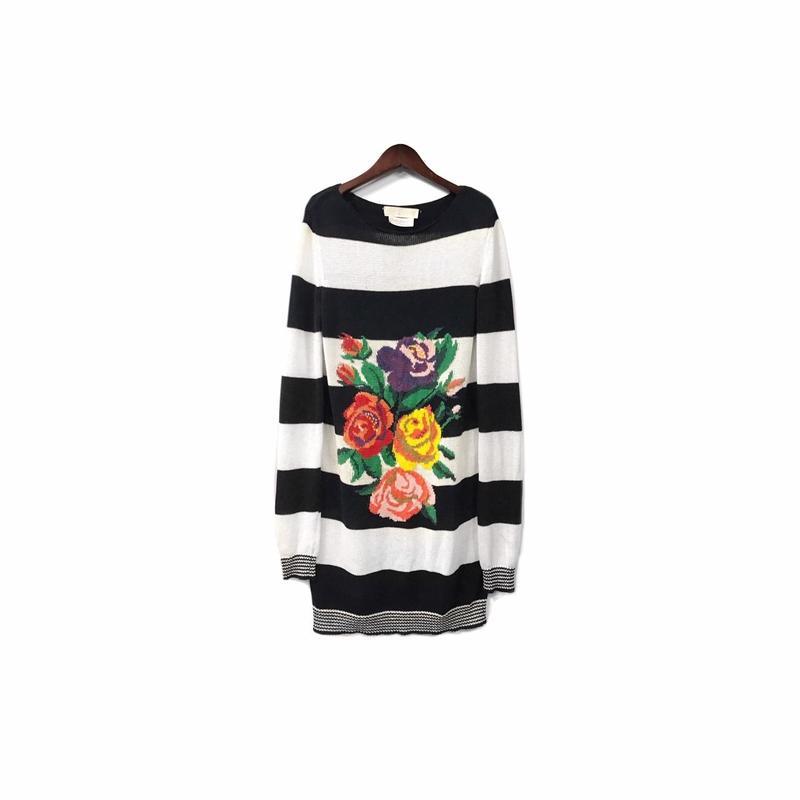 STELLA McCARTNEY - Needlework Border Long Knit (size - 40) ¥22000+tax→¥13200+tax