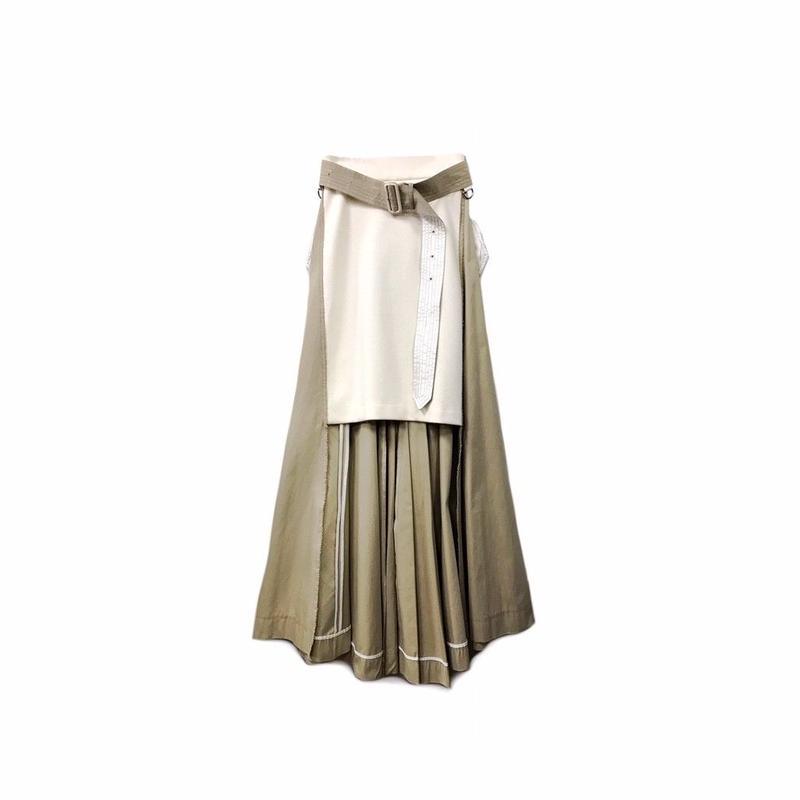 sacai - Switching Design Long Skirt (size - 1) ¥22000+tax