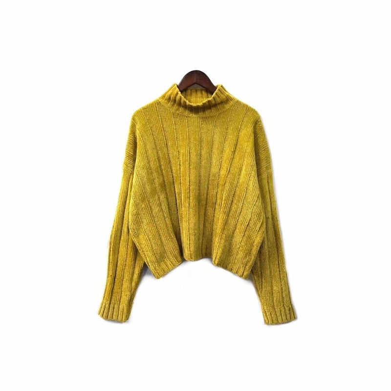 pierre cardin - Velor Knit Hight neck Tops (size - M) ¥12000+tax
