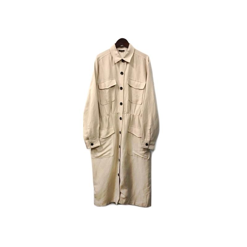 USED - Linen & Rayon Shirt One-piece / Coat ¥13000+tax→¥10400+tax