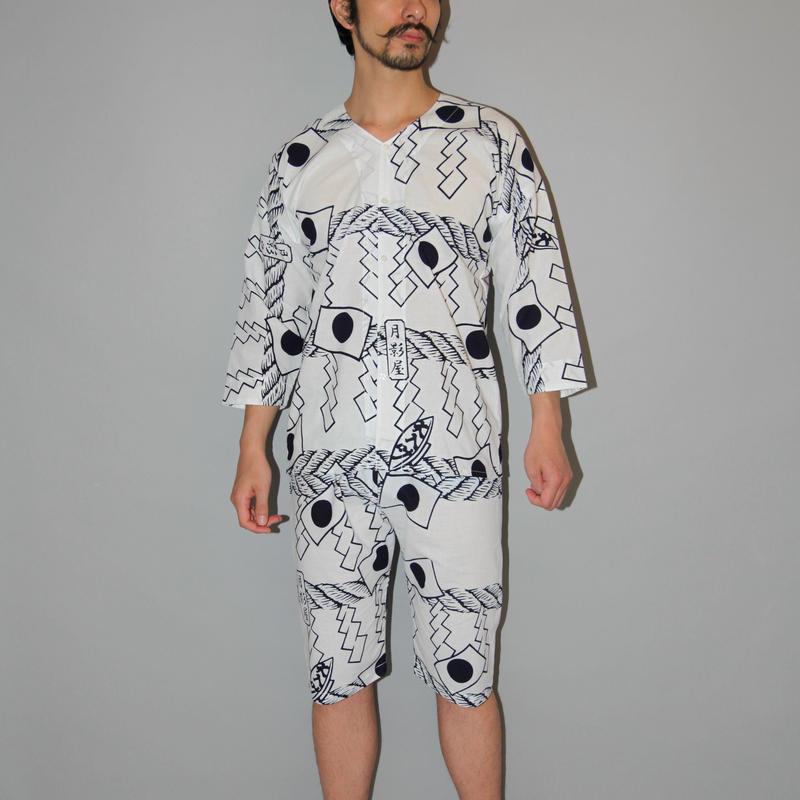 月影神社の鯉口シャツ