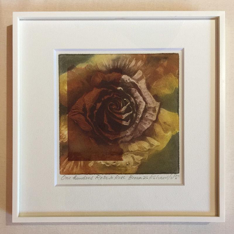 """アートプリント・シリーズ """"One hundred rose - 002 Rose is Rose Brown L"""""""