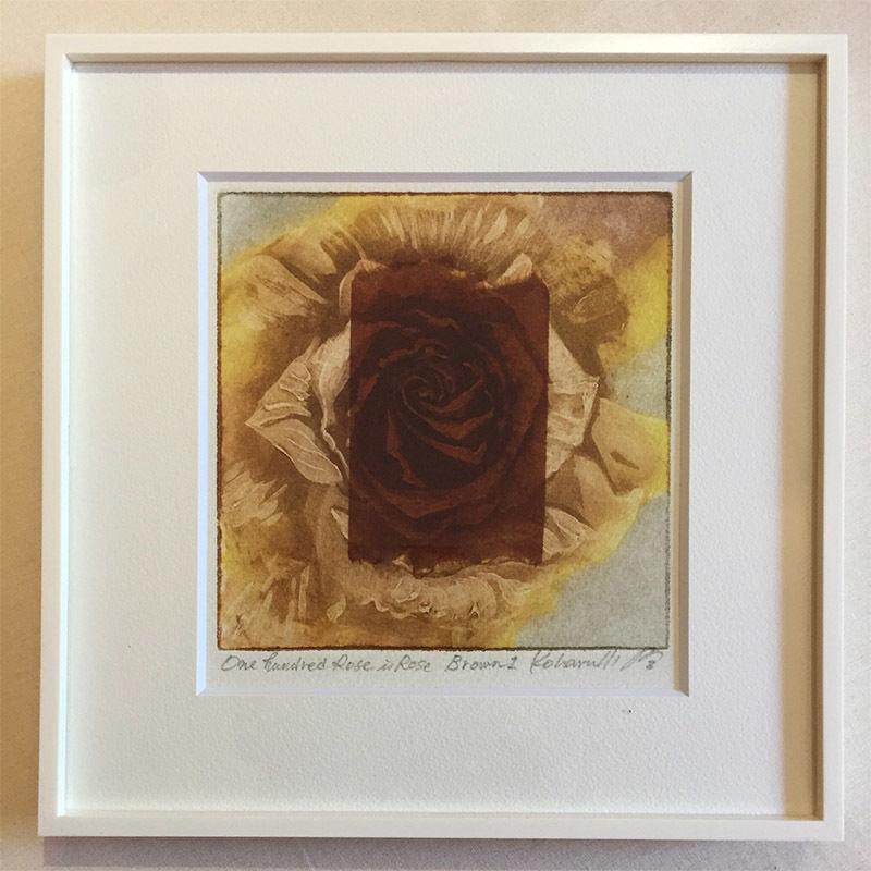 """アートプリント・シリーズ """"One hundred rose - 001 Rose is Rose Brown"""""""