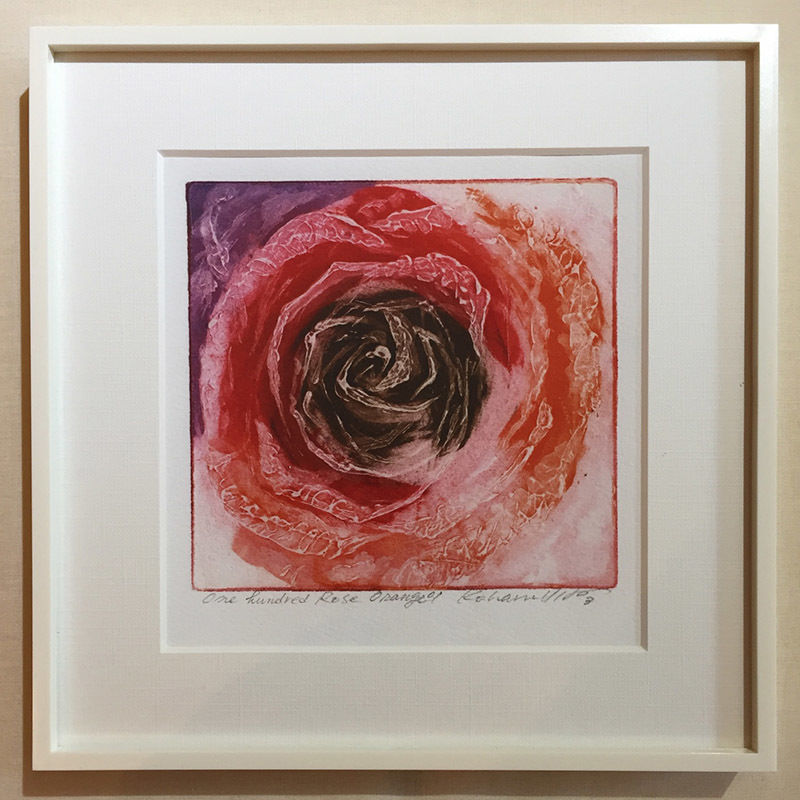 """アートプリント・シリーズ """"One hundred rose - 014 Orange O"""""""