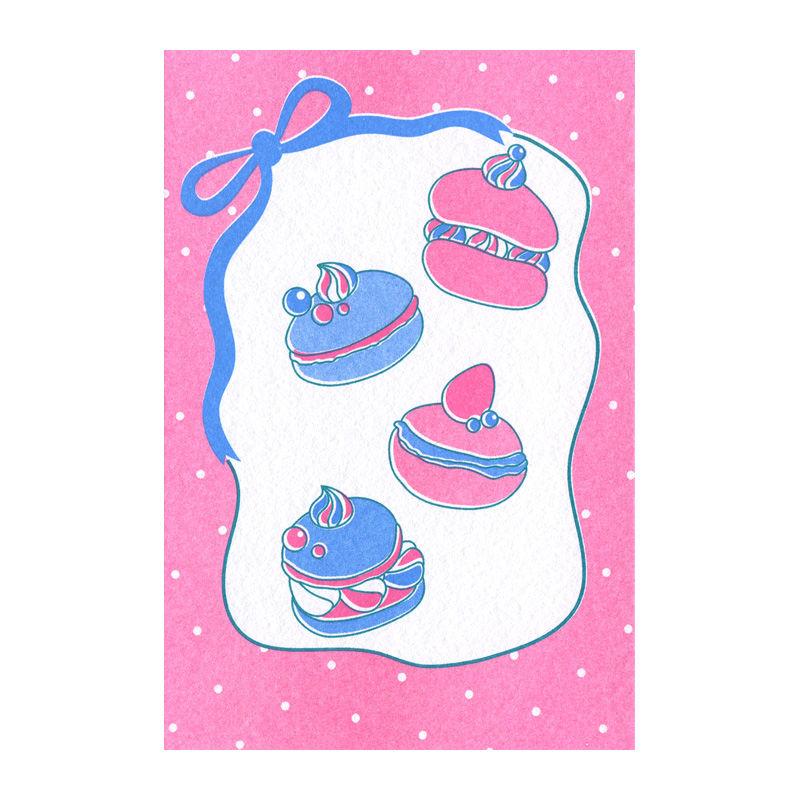 マカロン:デザイナーズポストカード